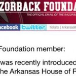 Razorback Foundation Responds to Football Game Bill