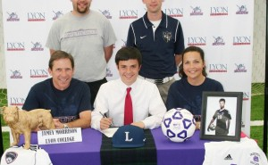 Jamey Morrison III signs letter to play soccer for Lyon College