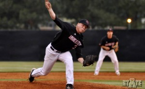 red wolves baseball pitcher against ualr