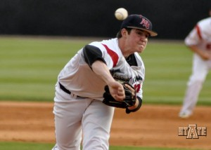 red wolves baseball takes on the trojans