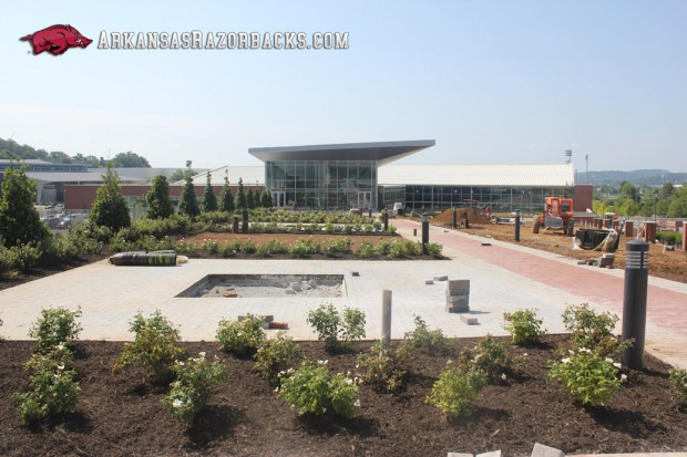 Razorback football center landscaping