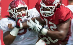 Arkansas football practice reports razorbacks defense