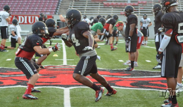 Arkansas football practice reports red wolves getting better
