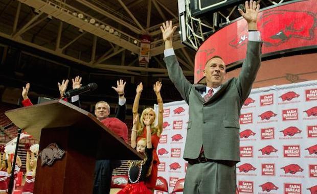new razorabck womens basketball coach jimmy dykes