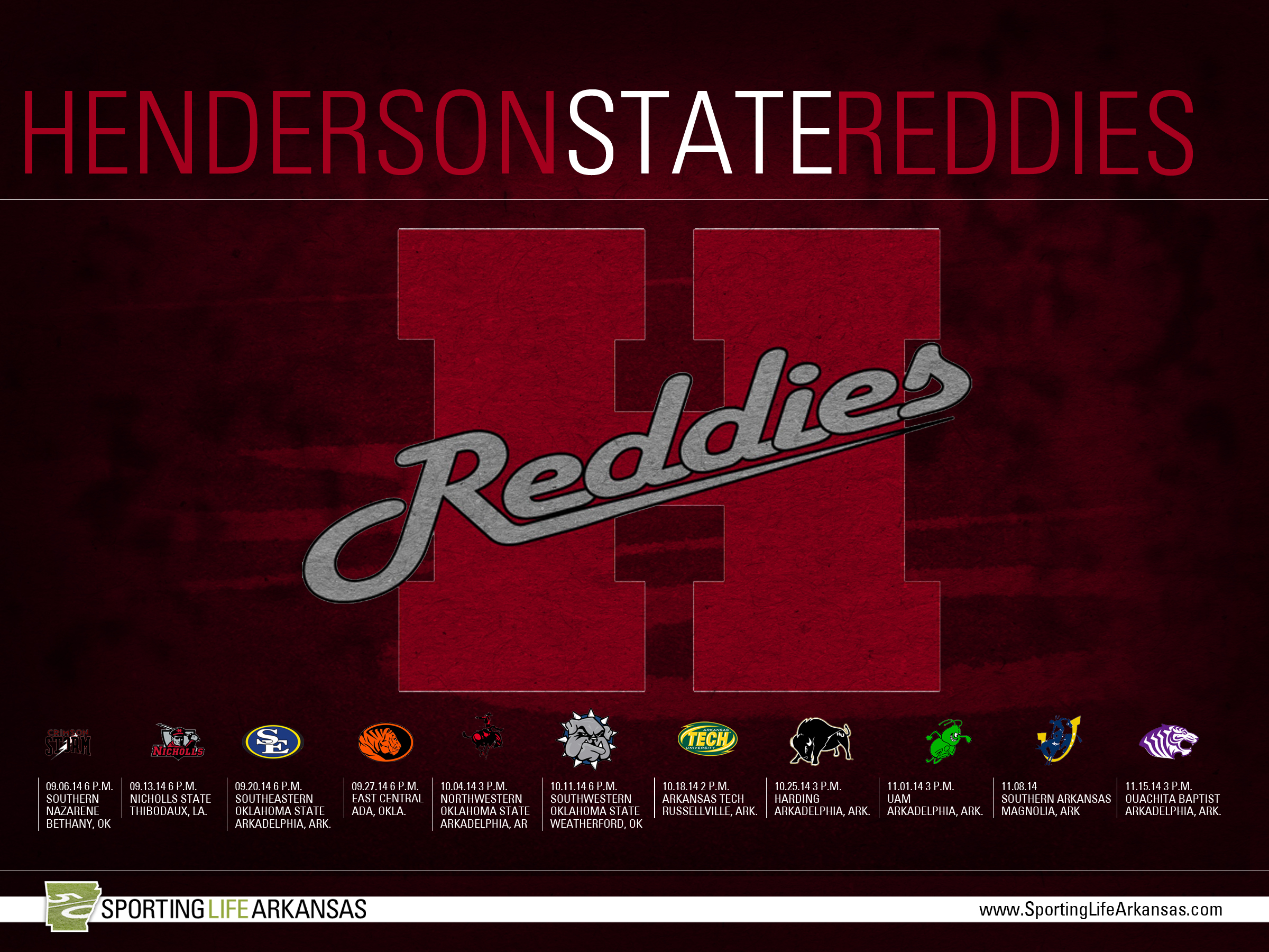 2014 Henderson State Reddies Football Schedule Wallpapers