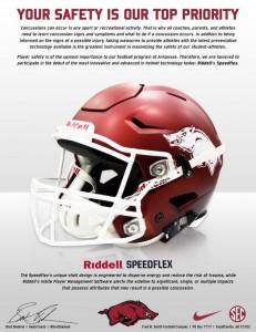 new razorback helmet promo piece