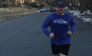 Jeremy Hinton training for Little Rock Marathon