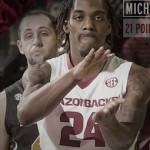 Michael Qualls Dunks the Funk for Razorbacks