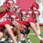 Razorbacks Football Team Hits Field for First Spring Practice