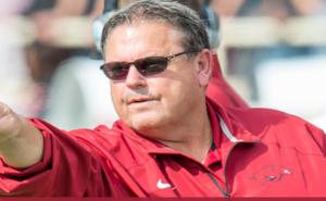 Arkansas Razorbacks football coach Sam Pitman